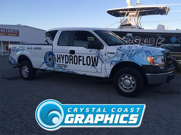Hydroflow partial wrap truck.
