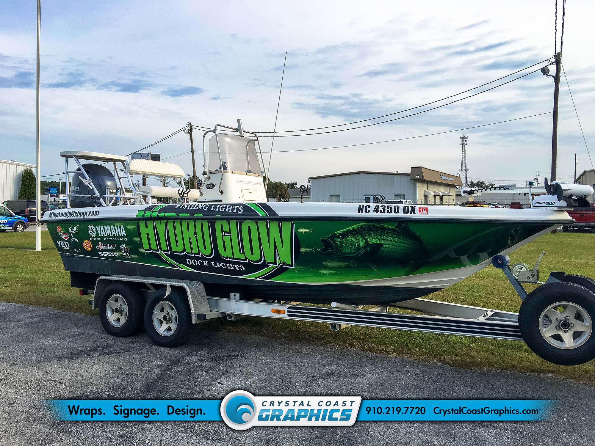 Boat Wraps Portfolio Crystal Coast Graphics