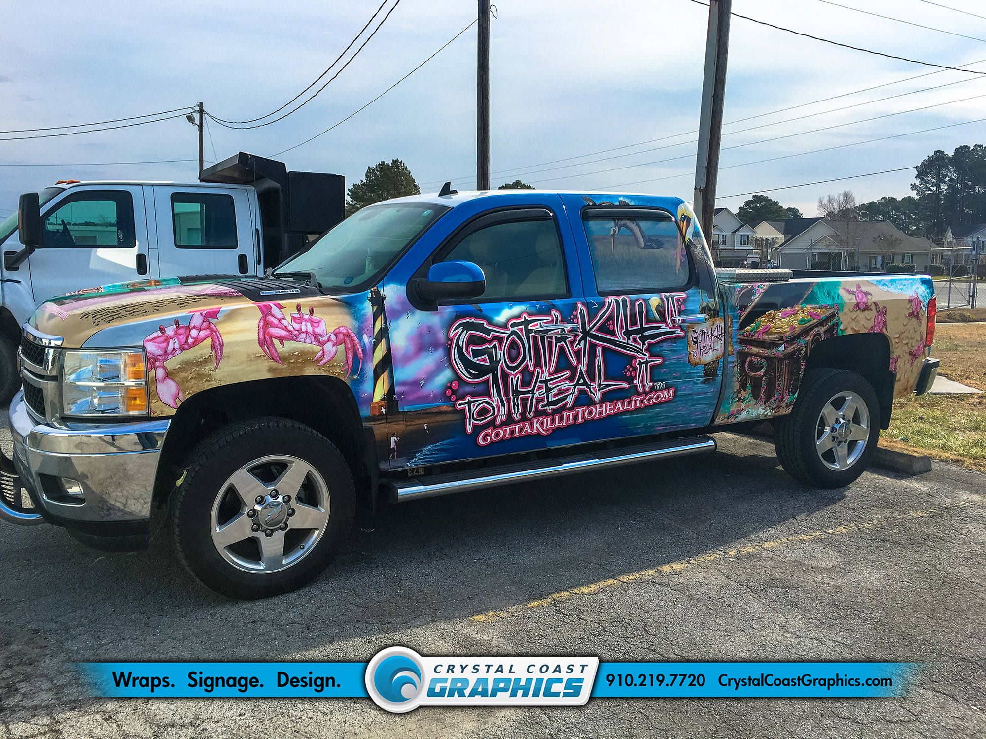 Vehicle Wraps Portfolio - Crystal Coast Graphics
