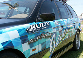 Custom SUV wrap by Crystal Coast Graphics.